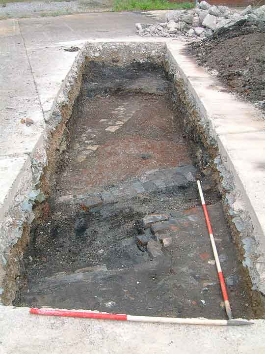 trench from the backfields excavation