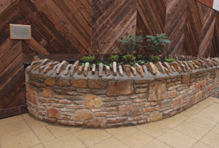 stones reused in garden