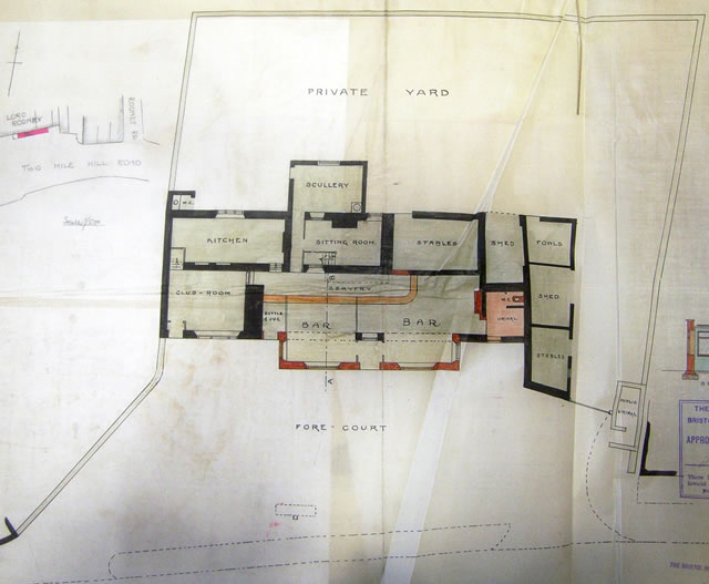 architects plans from 1911 of the lord rodney public house at st george bristol