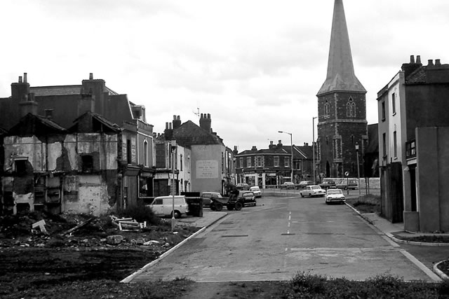 lower ashley road in the early 1970s looking east towards saints peter and paul church