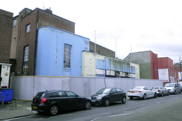 former rex cinema at bedminster looking south across North Street