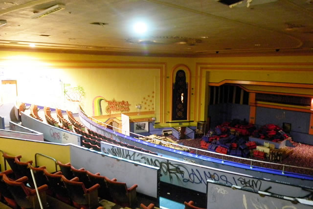 circle level balcony of former rex cinema at bedminster