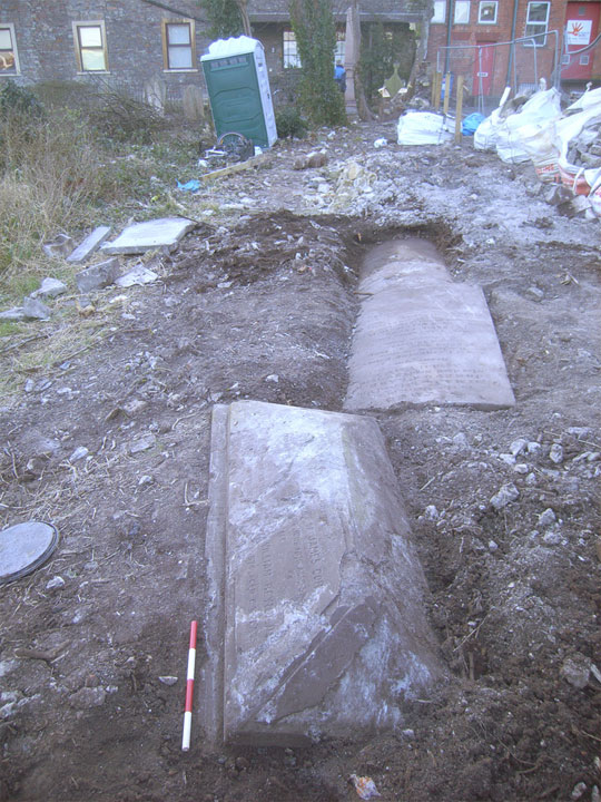 newly uncovered monuments at hebron burial ground bedminster