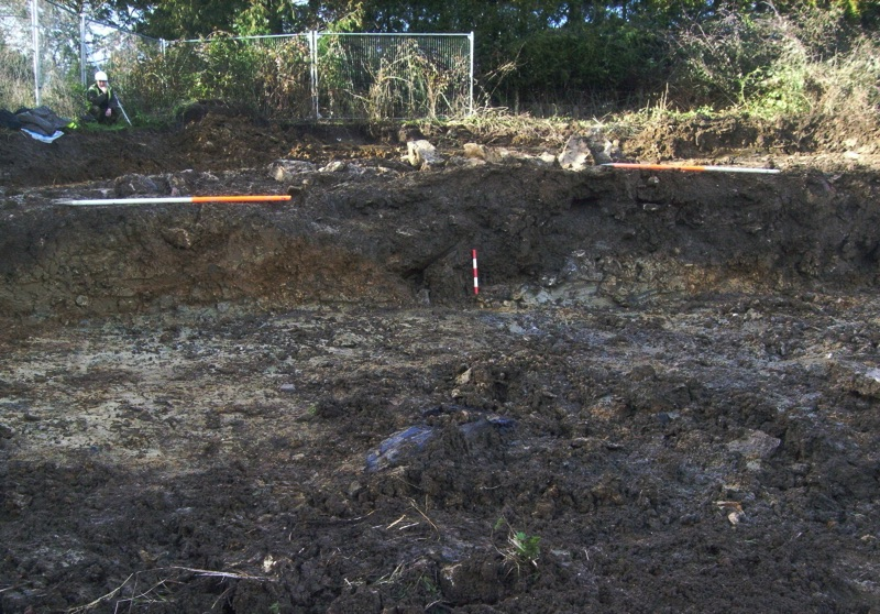 archaeological watching brief being performed on land earmarked for housing development